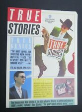 "Talking Heads ""Talking Stories"" Dealer Press Book - 4 Pgs Jumbo 1982"