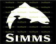 Simms Fishing -Trout - Outdoor Sports - Vinyl Die-Cut Peel N' Stick Decal
