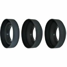 37mm 3-Stage Screw-in Rubber Lens Hood for Fujifilm Nikon Olympus Canon Pentax