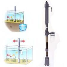 Hot Aquarium Battery Syphon Auto Vacuum Gravel Fish Tank Water Filter Cleaner ✿T