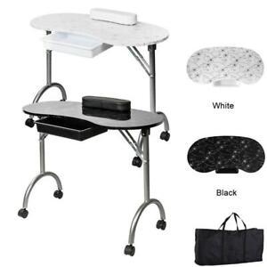 Large Portable Manicure Nail Table Station Desk Spa Beauty Salon Equipment w/Bag