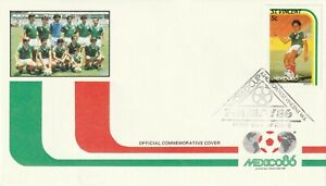 St VINCENT 7 MAY 1986 MEXICO 86 WORLD CUP 5c MEXICO FIRST DAY COVER SHS