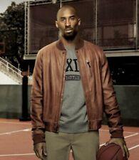 Nike Kobe Bryant Full Leather Jacket Destroyer Coat Basketball