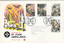 (09876) CLEARANCE GB Stuart FDC St John Ambulance London EC1 16 June 1987