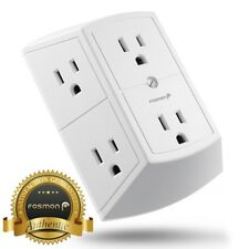 Fosmon [ETL Listed] 3 Sided 6 Outlet Grounded Indoor Wall Tap Adapter AC Plug