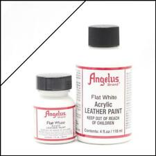 Angelus Acrylic Leather Paint Flat White 29,5ml/1 oz Bottle Colour for Shoes/Bag