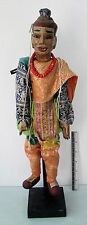 """VINTAGE 28 inch Handmade Thai """"Ramayana Epic"""" Marionette Puppet Guru"""