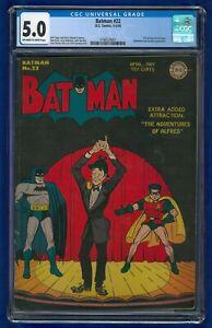 Batman #22 1944 CGC 5.0 DC Comics Golden Age