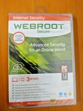 Webroot Secure Anywhere Advance Security For an Online World --Brand New Sealed