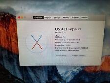 "Apple MacBook Pro 13.3""(Mid 2012) 2.9GHz Intel Core i7 8GB RAM 500GB El Capitan"