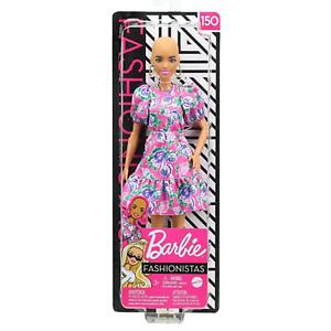 Barbie Fashionistas 150 with No Hair. Brand New Boxed Doll, NRFB.