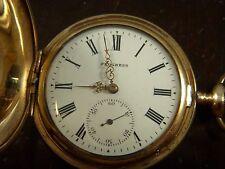 Vintage Gold Plated Columbia USA Progress Pocket Watch- Runs and Stops