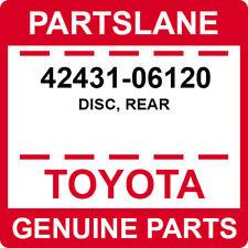 42431-06120 Toyota OEM Genuine DISC, REAR