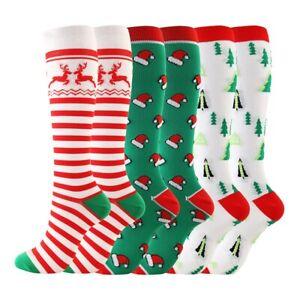 Women Warm Long Socks Christmas Gift Coral fleece Over The Knee High Stockings
