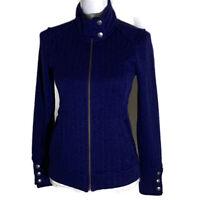Rei women's zip up sweater fleece jacket Aldervale blue long sleeves size XXS