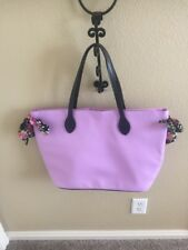 Simply Spring Floral Tote Bag Lavender NWOT  lilac floral ribbon