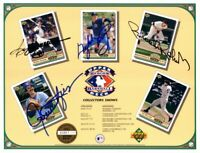 Reggie Jackson Gaylord Perry Brooks Robinson Fingers signed 1992 UD card sheet