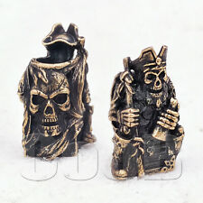 Paracord Bead Beads Charm Pendant ZOMBIE PIRATE for Bracelet Lanyard KeyChain