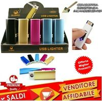 Accendino Elettrico Ricaricabile Senza Fiamma  USB Idea Regalo Elettronico ECO