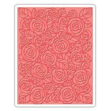 Tim Holtz Texture Fades ~ ROSES ~ Embossing Folder ~ 661829