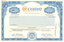 @comm > Call Reporting systems and cloud-based services stock certificate share