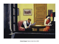 ART PRINT - Room in New York, 1932 by Edward Hopper 24x32 Poster
