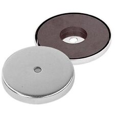 """STRONG 3"""" Round Base Magnet with Mounting Hole"""