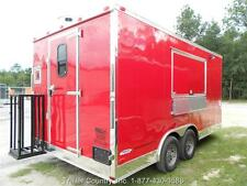 New 85x16 85 X 16 Enclosed Concession Food Vending Bbq Trailer
