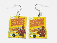 Scooby Snacks HANDMADE Plastic Charm Earrings Scooby Doo Fred Shaggy Scrappy Doo
