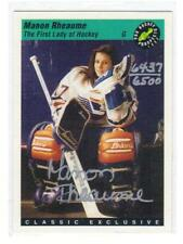 Manon Rheaume, 1st Lady of Hockey  auto card.