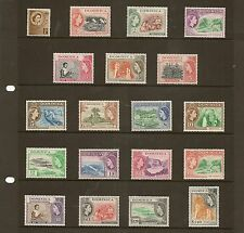 DOMINICA 1954 TO $2.40 SG140/58 NEVER HINGED MINT