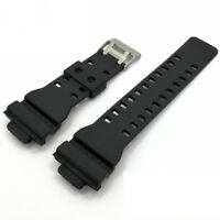 16mm Black Rubber Watch Strap Band Compatible for Casio GA-400 GA-400GB GA-700