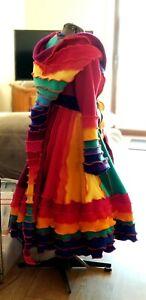 Rainbow Sweater Coat Elf Fantasy Burning Man Frm Katwise Pattern XL 14-18US...
