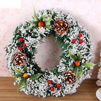 Christmas Ornament Home Rattan Festive Party DIY Wreath Decoration Garland Party