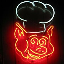 """New Pig Chef BBQ Barbecue Beer Pub Bar Neon Sign 17""""x14"""" Ship From USA"""