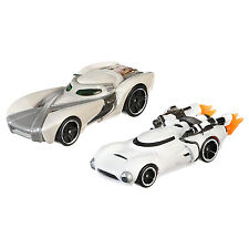 Hot Wheels Star Wars 1:64 Diecast REY vs FIRST ORDER FLAMETROOPER Character Cars