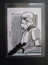 2009 Star Wars Artist Sketch Card STORMTROOPER by Lee Kohse