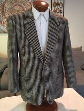 Stunning Giorgio Armani Mens Beige Gray Heavy Wool Blazer Sz 40 41 42 L