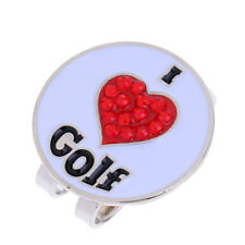 Golf Hat Clip with Detachable Magnetic Golf Ball Marker Heart Design
