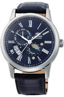 Orient FAK00005D Sun and Moon Version 3 Automatic Blue Dial Blue Leather Watch