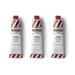 TRIPLE PACK CLEARANCE Proraso Sandalwood Shaving Cream Red Tube - 150ml x 3 Trio