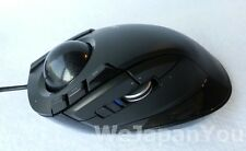 Wired Trackball Mouse Index Finger 8button Ergonomics ELECOM M-DT2URBK +Tracking