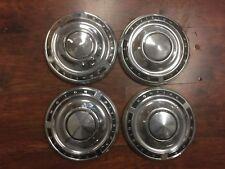 """62 1963 1964 1965 1966 Pontiac Tempest Catalina Dog Dish Hubcaps Set of 4 9-1/2"""""""