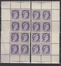 1954 #340i 4¢ QUEEN ELIZABETH II WILDING PORTRAIT PLATE BLOCK #19 F-VFNH