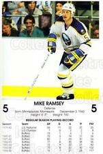 1986-87 Buffalo Sabres Blue Shield #24 Mike Ramsey