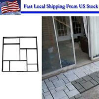 Driveway Paving Pavement Mold Patio Concrete Stepping Stone Path Walk Maker DIY