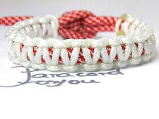 Oktoberfest Paracord armband-rot blanc -verstellbar-kinder-frauen-männer