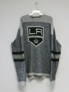 Red Jacket Men's Preston NHL Los Angeles Kings Gray XL Sweatshirt Pullover