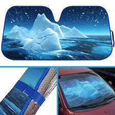 Blue Iceberg Ocean Auto Sun Shade - Reflect UV Ray, Heat, Sun, Keeps Car Cool