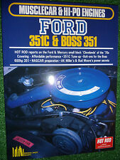 HOT ROD on Musclecar & Hi-Po Ford 351C +Boss 351 ENGINES tune modify book manual